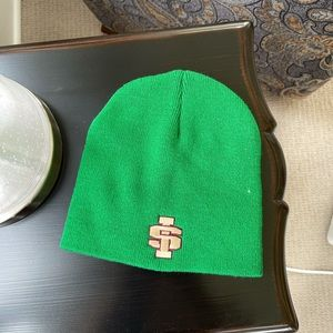 NWOT Saint Ignatius Green Beanie
